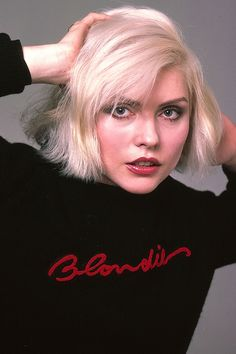 Bleached hair and red lips made Debbie Harry the ultimate punk rock princess.