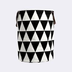 The shapely Triangle Laundry Basket was designed for the label ferm Living. The laundry basket by ferm Living convinces with its clear, graphic design and high Toy Storage, Storage Baskets, Storage Organization, Nursery Storage, Kids Storage, Storage Spaces, House Doctor, Cute Blankets, Laundry Hamper