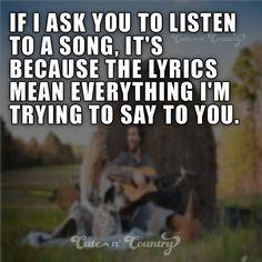 #countrymusic #countrysongs #countrygirls Make sure to follow Cute n' Country at http://www.pinterest.com/cutencountrycom/