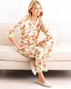 "Asian Wrap Pajamas -- love the ""Aqua Medallion"" color!"