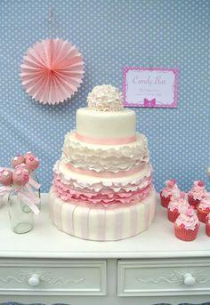 Wedding Cake: Lovely-Frilly-Cake