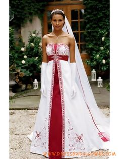 5b6fe28075 White And Red Wedding Dresses - The Wedding SpecialistsThe Wedding  Specialists Irish Wedding Dresses