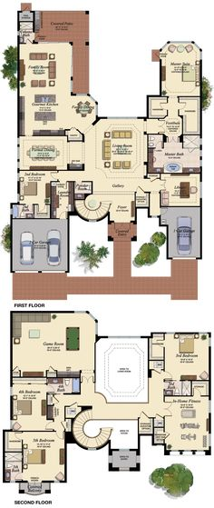 7 Modern House Plans Samples – Modern Home Dream House Plans, House Floor Plans, My Dream Home, House Blueprints, House Layouts, Architecture Plan, House Goals, Oahu, Exterior Design