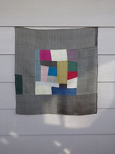 pojagi bojagi korean patchwork wall hanging by Laughingneedle