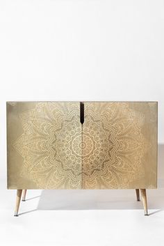 Monika Strigel SERENDIPITY LIGHT GREY Credenza | DENY Designs Home Accessories