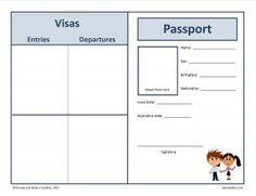 Free Passport To The World Templates Printable Printables Passports For Kids