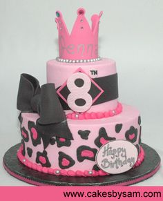 This cake will be the inspiration for Aniah's 1st bday cake. :) LOVE it!!