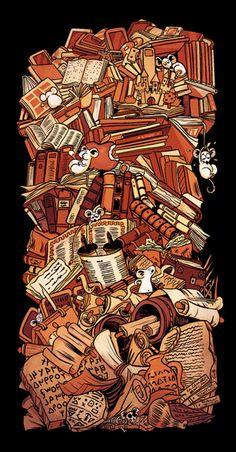 L'histoire du livre en strates et en mulots
