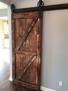 Rustic antique barn door by ChiTownFurniture on Etsy