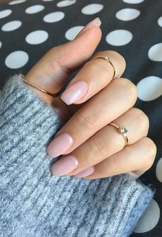 Fresh and cute collection of nude nail designs to wear for fall-winter 2017.