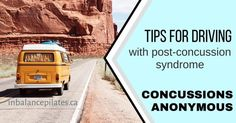 Tips for Driving when you have persistent post-concussion syndrome Symptoms Of Concussion, Post Concussion Syndrome, Posture Correction Exercises, Posture Exercises, Healthy Brain, Brain Health, Brain Injury Recovery, Improve Posture
