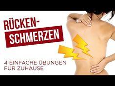 Rückenschmerzen - 4 einfache und effektive Rückenübungen - YouTube