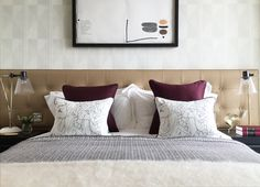 Project Reuben by interior designers 1508 London, located in London's South Bank Tower. #1508London. Each bedroom features bespoke furniture and artistic accessories.