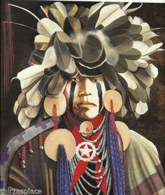 J D Challenger Western Art Native American Print | eBay