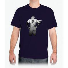 Respect Derek Jeter Re2pect 2 On Back new york uniform MJ baseball - Mens T-Shirt