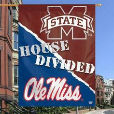 Ole Miss Rebels vs. Mississippi State Bulldogs I need this come August. Mississippi Football, Mississippi State Bulldogs, Football Signs, Sec Football, Msu College, Ole Miss Rebels, House Divided, Southern Belle, Wonders Of The World