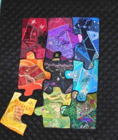 Crazy Quilt jigsaw puzzle - Kind of love this idea for a big print...