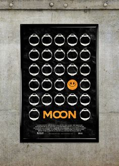 """Moon"" movie poster concept by Adam Rabalais, Baton Rouge"