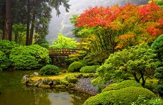 Portland's Japanese garden is considered the most authentic Japanese garden outside of Japan