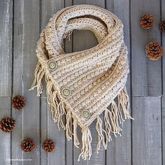 Worked flat, this beautifully-textured boho-style cowl works great both over a t-shirt or tucked under a winter coat. It is part of the Malia Crochet-Along.