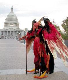 Stilt bird costume