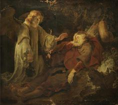 The Angel Appearing To Elijah Painting by Ferdinand Bol