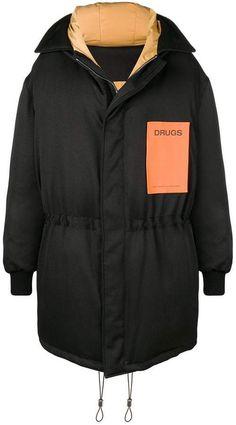 Raf Simons Oversized Reversible Padded Jacket In Black Raf Simons Clothing, All Black Looks, Down Parka, Padded Jacket, Sportswear, Rain Jacket, Women Wear, Street Style, Jackets