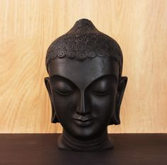 Black Buddha Head Statue | Buddha garden Statue | Handcrafted Large Buddha Statue by lokalart on Etsy https://www.etsy.com/listing/175166069/black-buddha-head-statue-buddha-garden
