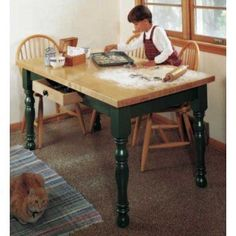 Woodworker's Journal Country Kitchen Table Plan| Rockler Woodworking and Hardware