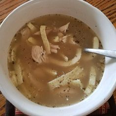 """From @keto_unleashed Another rainy day and a lot of stress calls for chicken """"noodle"""" soup. I used this recipe for the noodles but had to up baking temp to 350 for closer to 12-15 mins. http://ift.tt/1PpYzI6  #keto #ketomeals #lchf #lowcarb #highfat #atkins #bestdietever #whatdiet #fatisfuel #ketogenic #kcko #eatfatloseweight #lowcarbhighfat #ketosis #ketocooking #lowcarbcooking #lowcarbliving #ketoliving #ketofoods #xxketo #ketodiet #ketodinner #weightloss #lifestylechange #ketofitguide…"""