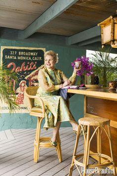 Michelle Phillips' Backyard Tiki Bar