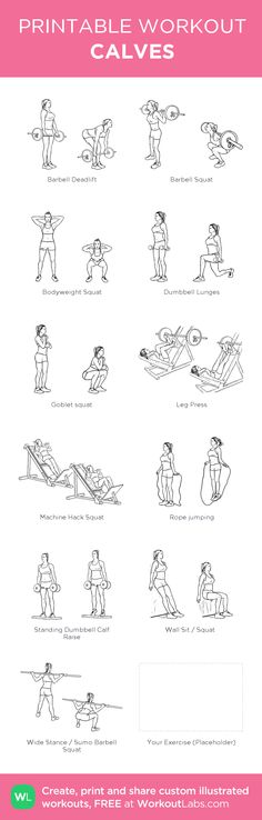 CALVES: my custom printable workout by @WorkoutLabs #workoutlabs #customworkout