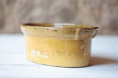 Large Antique French Stoneware Terrine, Pottery Pate Dish by FarmGateVintage on Etsy