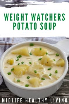 Ww Potato Soup Recipe, Healthy Potato Soup, Potato Diet, Simple Potato Soup, Best Healthy Diet, Best Diet Foods, Ww Recipes, Soup Recipes, Healthy Recipes