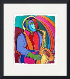 """""""Jazzin#3"""" by Bryan(Masud) McDowell, Brooklyn,New York //  // Imagekind.com -- Buy stunning fine art prints, framed prints and canvas prints directly from independent working artists and photographers."""
