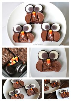 Delicious Brownie Owl Treats from PinkWhen.com #recipe #brownie #kids