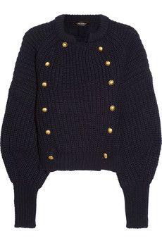 Isabel MarantTadley chunky-knit wool cardigan
