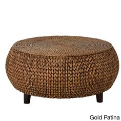 Gallerie Decor Bali Breeze Low Round Coffee Table (