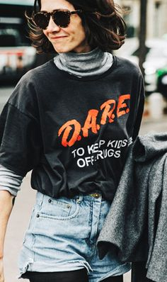 street style dare top denim shorts