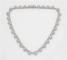 PROPERTY OF A LADY  A Diamond Flower Necklace