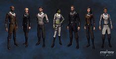 """Here is a sneak peek at the Winter Jackets available at Q's Winter Wonderland this year. Star Trek Online, Star Trek Uniforms, Studios, Star Wars, The Final Frontier, Star Trek Universe, Sci Fi Art, Larp, Concept Art"
