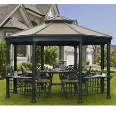 Found it at Wayfair - Sinclair Octagonal 11 Ft.H x 14 Ft.W x 13 Ft.D Gazebo