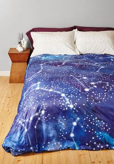 starry slumber duvet cover in fullqueen with your bed blanketed by this celestial