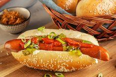 Hot Dog Buns, Hot Dogs, Bratwurst, Bruschetta, Bread, Baking, Comfort Foods, Danish, Ethnic Recipes