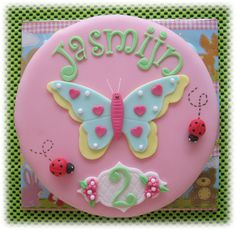 Vlinder taart Evie, Cake Toppers, Sugar, Cookies, Birthday, Desserts, Kids, Cup Cakes, Party Ideas
