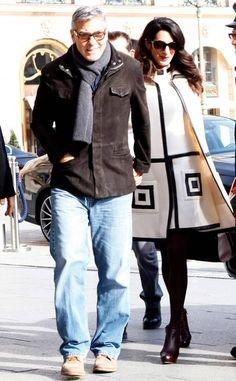 George Clooney & Amal Clooney ~In Paris