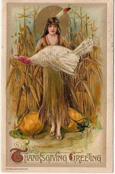 Thanksgiving vintage postcard