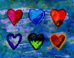 Jim Dine Hearts | Art Projects for Kids. Download my heart template to make a painting in the style of Jim Dine. #artprojectsforkids #valentine #jimdine