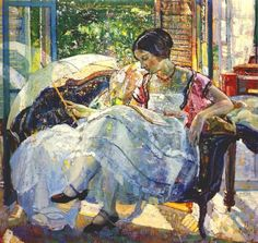 The Athenaeum - Lady reading (Richard Edward Miller - No dates listed)