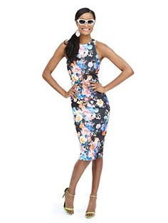 Shop Scuba Midi Sheath Dress - Floral  . Find your perfect size online at the best price at New York & Company.